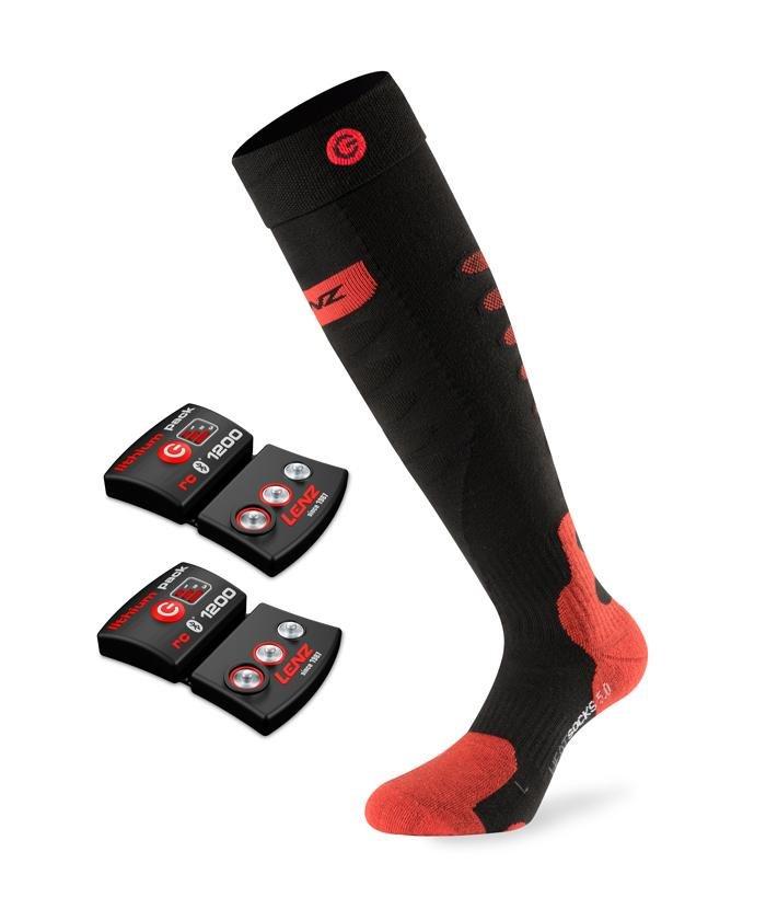 SET - Vyhřívané ponožky LENZ Heat Socks 5.0 Toe Cap + baterie lithium pack rcB 1200